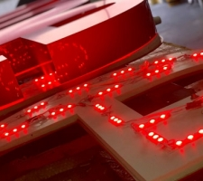 Red LED's for internal signage illumination