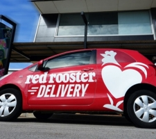 Red Rooster Small car wrap