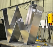 WA Day letters getting manufactured in our steel department