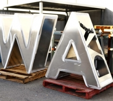 Aluminium WA Day letters ready to be painted