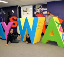 Aluminium WA Day letters with the fabrication team