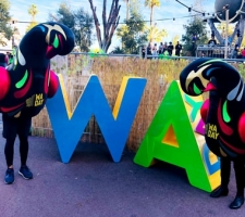 Aluminium WA Day letters at the festival
