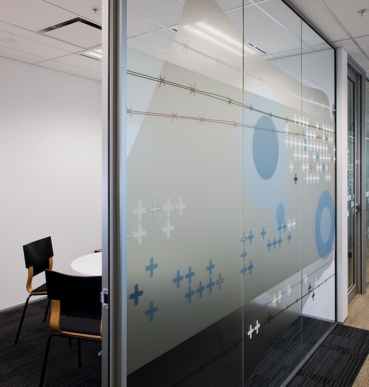 digitally printed pattern privacy film