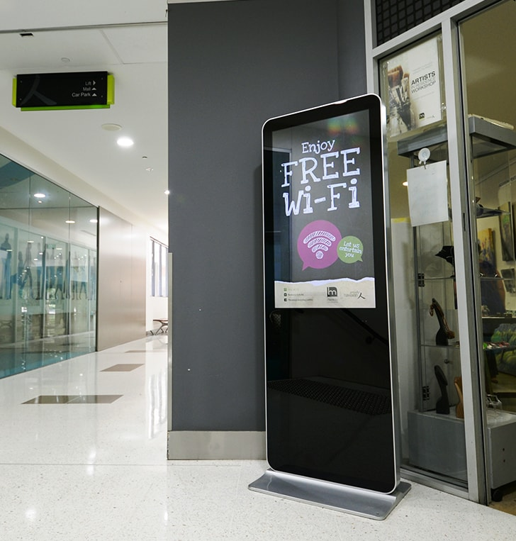 dynamic digital screen kiosk audio visual perth