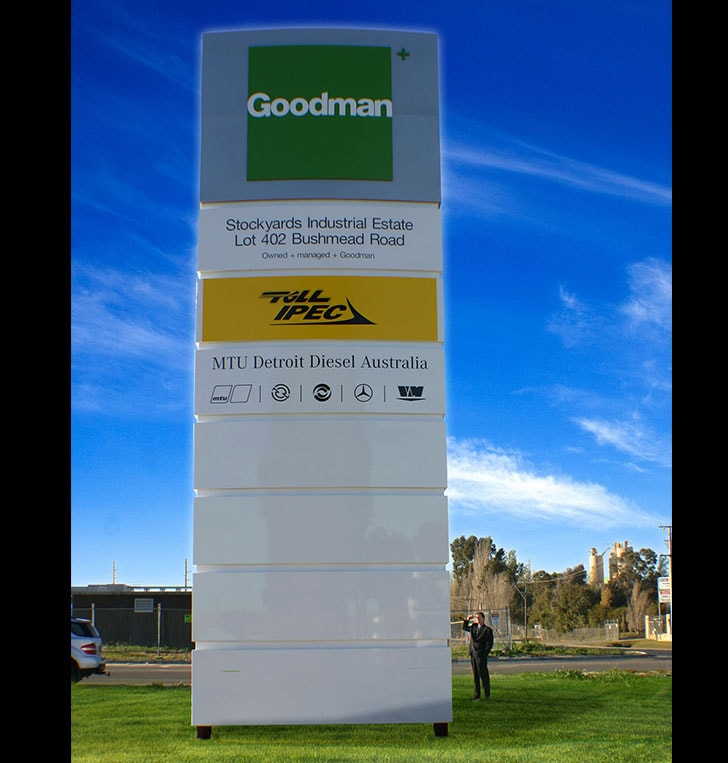 Perth pylon signage custom aluminium