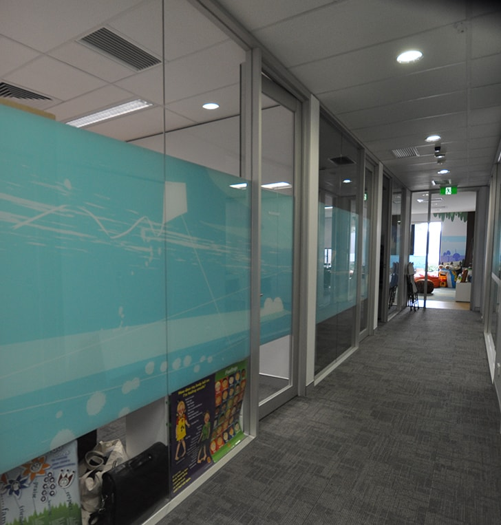 privacy glazing film custom graphic