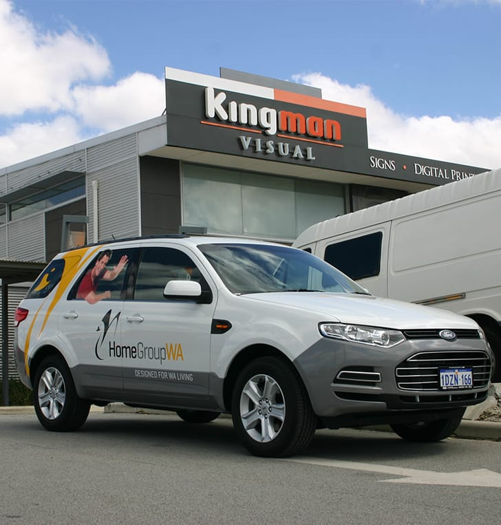 company signage to vehicle fleet Perth