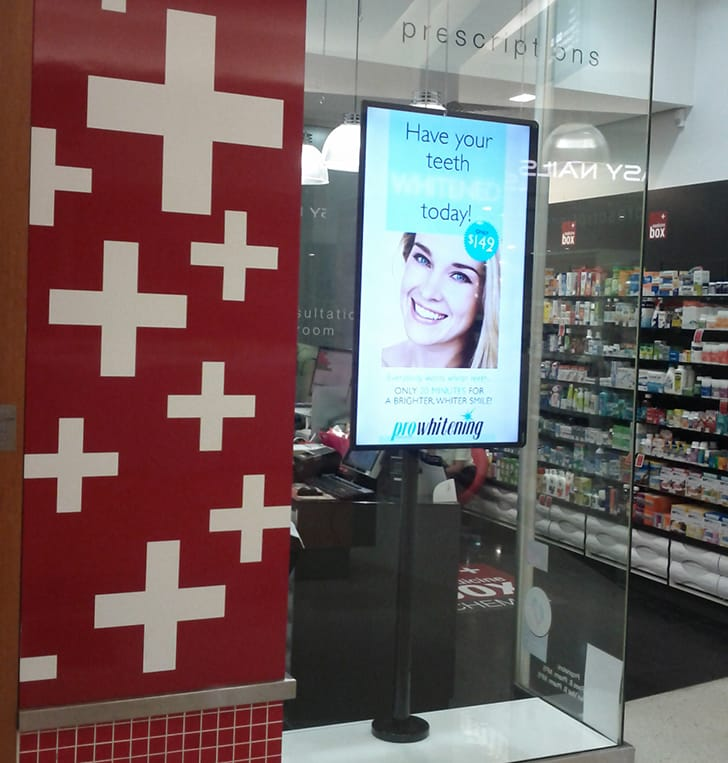 retail tv screen point of sale signage