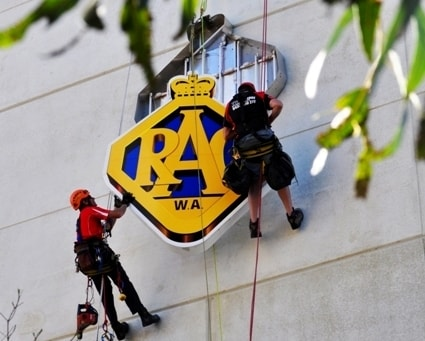 sky sign rope access installation west perth