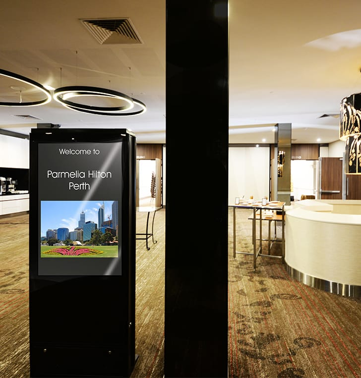 "digital signage tv kiosk 55"" perth"