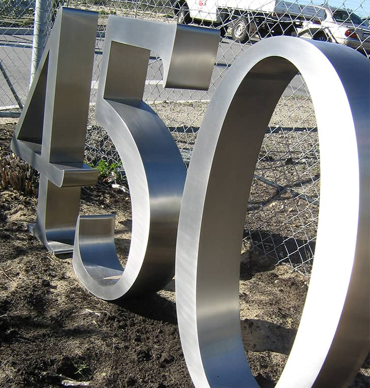 stainless steel 3d address letters
