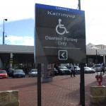 custom designed statutory sign disabled parking