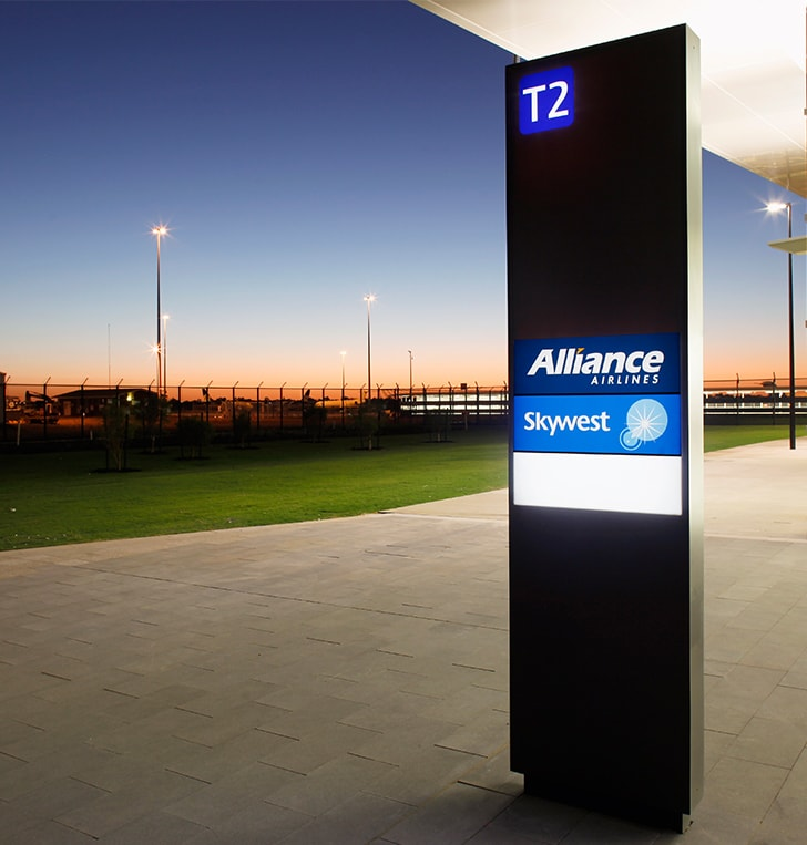 led light totem wayfinding sign perth