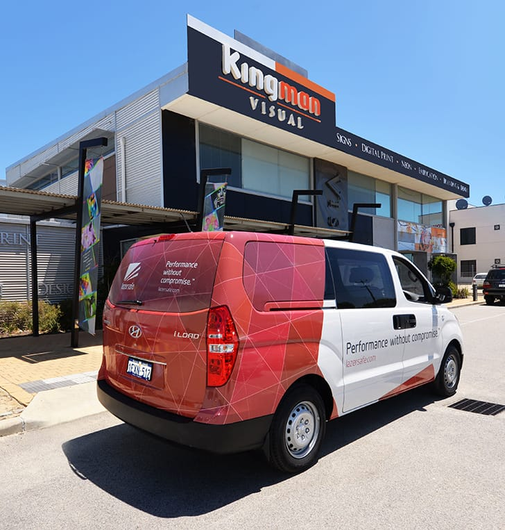 Vehicle wrap signage Malaga Perth