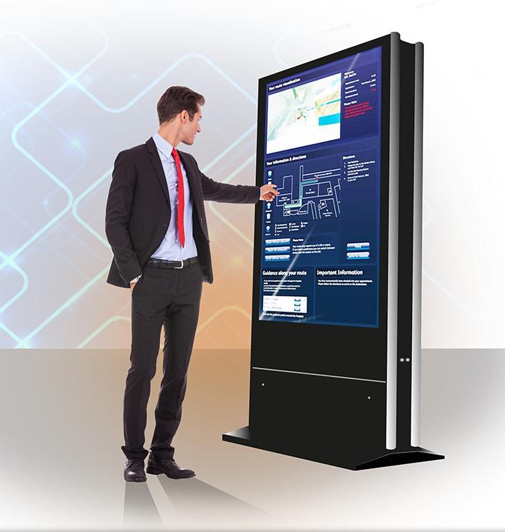 double sided digital signage kiosk