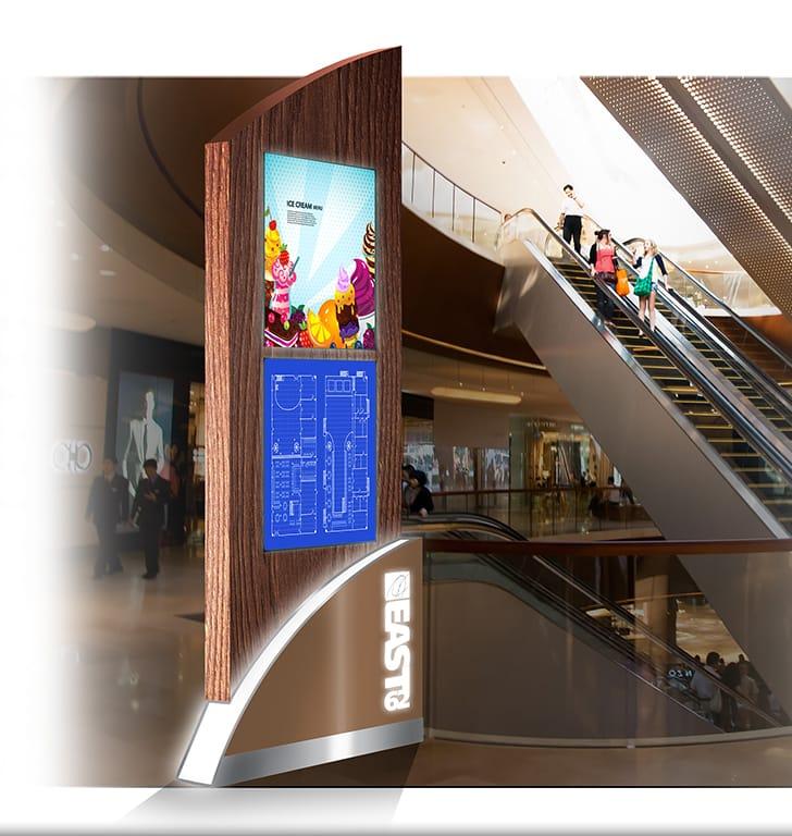customised digital sign kiosk