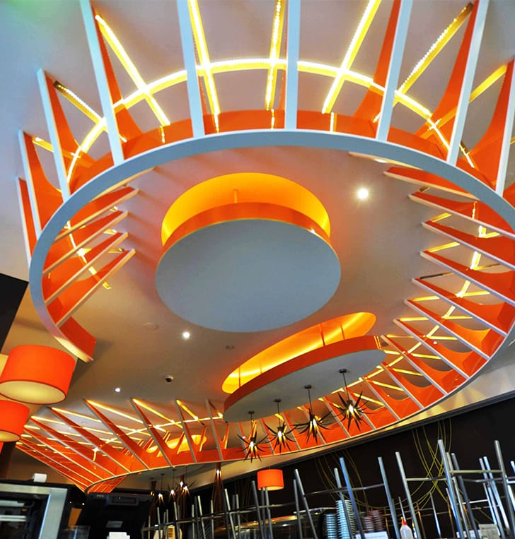 ceiling architectural design lighting feature signage perth