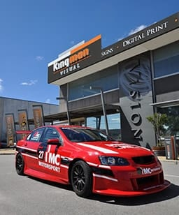 motorsport vinyl lettering race car
