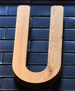 3d timber wood 3d letter perth