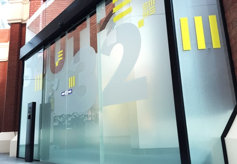 glazing frosted film graphics