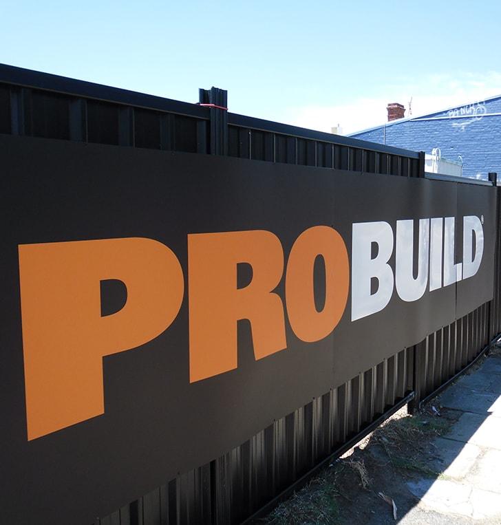 construction site fence signage