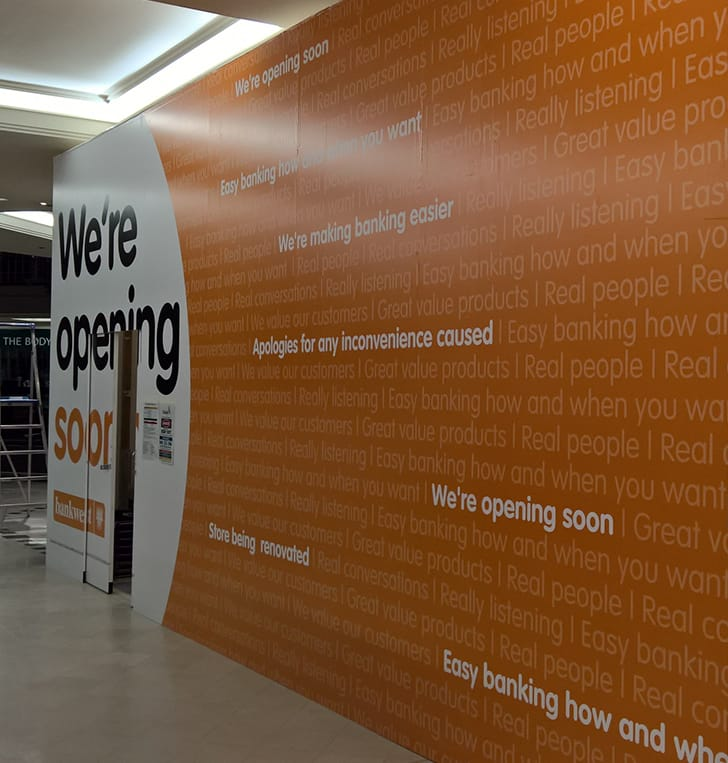 printed hoarding graphic panels perth