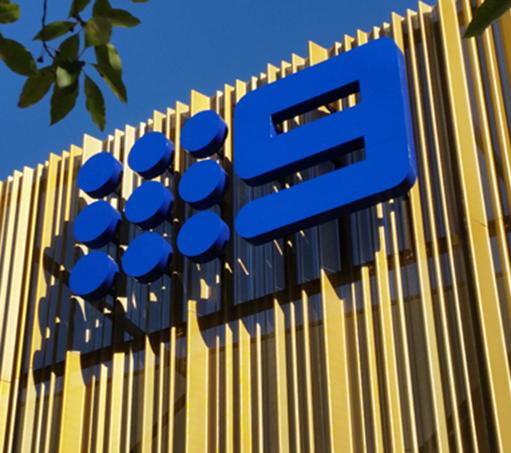 Nine Network Illuminated Signage Perth